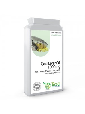 Cod Liver Oil 1000mg 90 Capsules