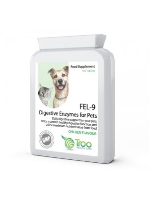 FEL-9 Digestive Enzymes for Pets 120 Tablets