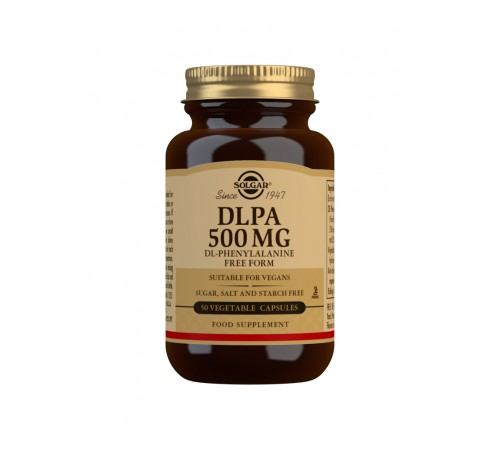 DLPA 500 mg (DL-Phenylalanine) Vegetable Capsules - Pack of 50