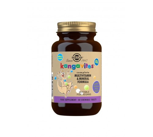 Kangavites Bouncing Berry Complete Multivitamin and Mineral Formula Chewable Tablets - Pack of 60