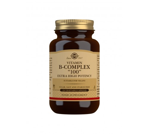"""Vitamin B-Complex """"100"""" Extra High Potency Vegetable Capsules - Pack of 250"""