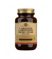 L-Arginine 500 mg / L-Ornithine 250 mg Vegetable Capsules - Pack of 50