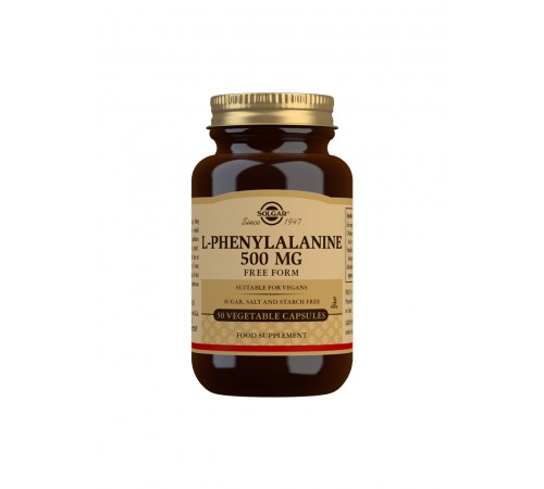 L-Phenylalanine 500 mg Vegetable Capsules - Pack of 50