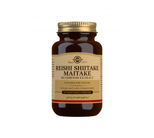 Reishi Shiitake Maitake Mushroom Extract Vegetable Capsules - Pack of 50