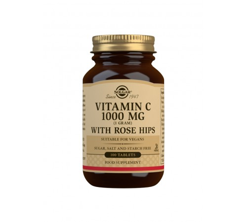 Vitamin C 1000 mg with Rose Hips Tablets - Pack of 100