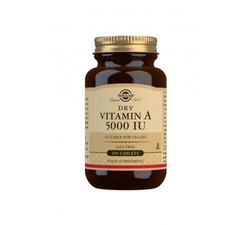 Dry Vitamin A 5000 IU Tablets - Pack of 100
