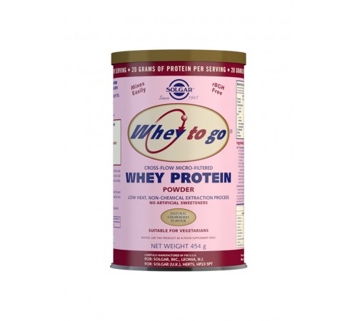 Whey To Go Natural Strawberry Flavour Protein Powder - 454 g