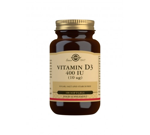 Vitamin D3 400 IU (10 ?g) Softgels - Pack of 100