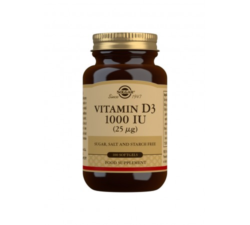 Vitamin D3 1000 IU (25 ?g) Softgels - Pack of 100