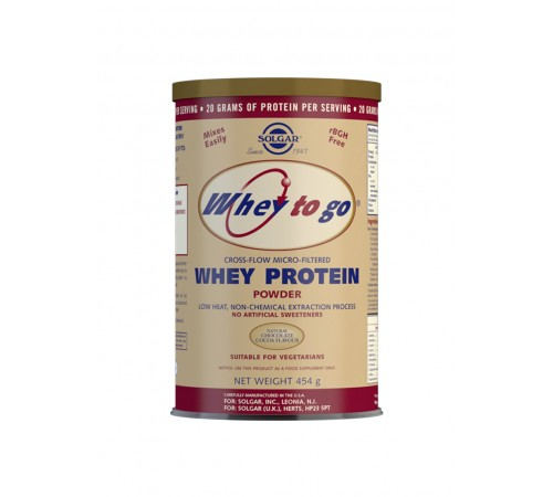 Whey To Go Natural Chocolate Flavour Protein Powder - 454 g