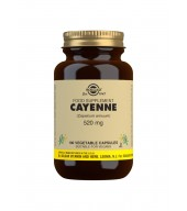 Cayenne 520 mg Vegetable Capsules - Pack of 100