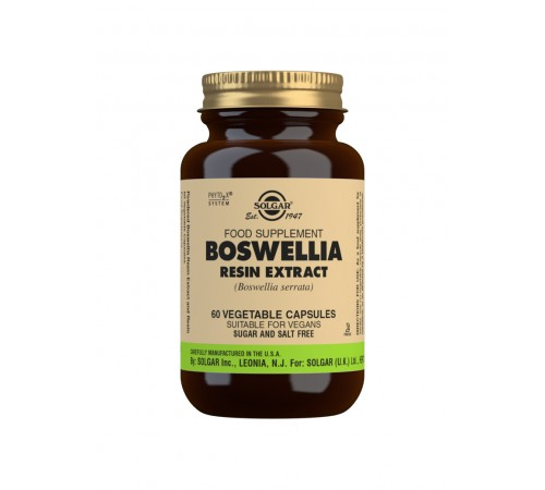 Boswellia Resin Extract Vegetable Capsules - Pack of 60