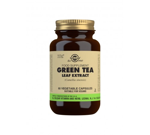 Green Tea Leaf Extract Vegetable Capsules - Pack of 60