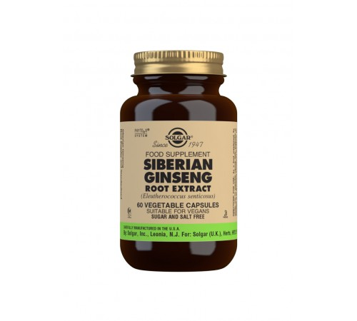 Siberian Ginseng Root Extract Vegetable Capsules - Pack of 60