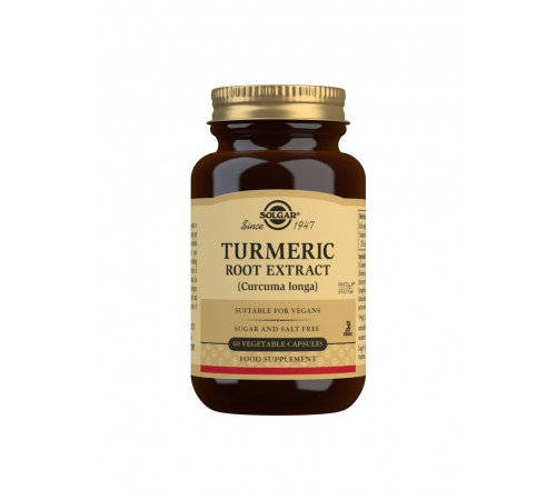 Turmeric Root Extract Vegetable Capsules - Pack of 60