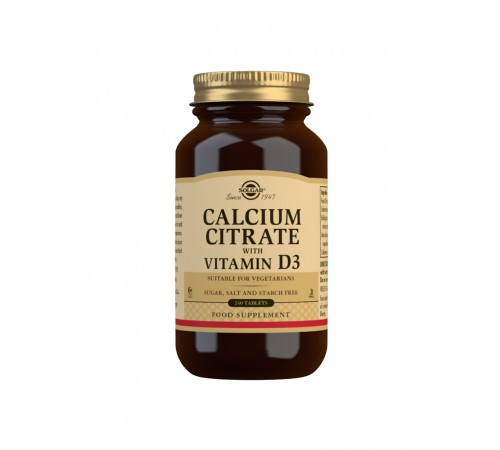 Calcium Citrate with Vitamin D3 Tablets - Pack of 240