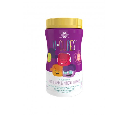 U-Cubes Children's Multi-Vitamin and Mineral Gummies - Pack of 60