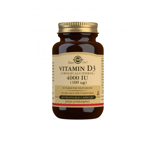 Vitamin D3 Cholecalciferol 4000 IU 100 g Vegetable Capsules - Pack of 60