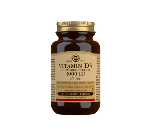 Vitamin D3 1000 IU (25 ?g) Chewable Tablets - Pack of 100