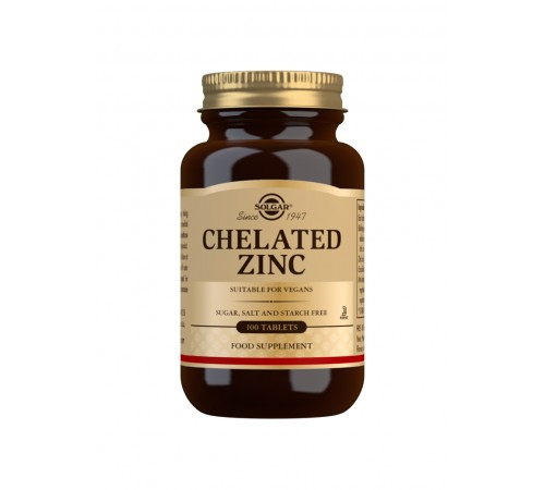Chelated Zinc Tablets - Pack of 100