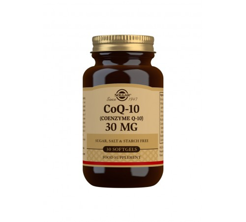 CoQ-10 (Coenzyme Q-10) 30 mg Softgels - Pack of 30